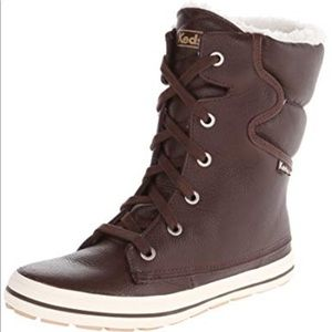 Keds Droplet Leather Brown Lace Up Boots